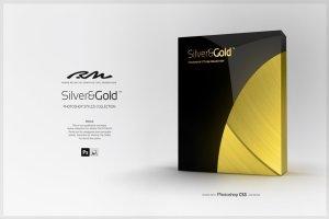 超级金色&银色金属图层样式合集 RM Silver & Gold插图1
