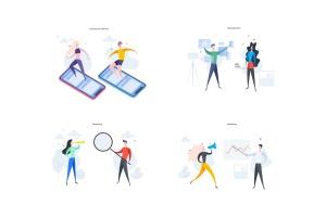 简约数码主题矢量插画素材 Digital Illustrations插图8