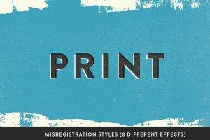 71个复古风格PS字体样式 RetroInk | 71 Retro Ink Effects插图4