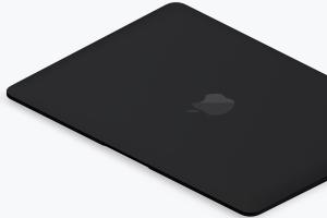高端笔记本电脑MacBook左视图样机素材02 Clay MacBook Mockup, Isometric Left View 02插图2