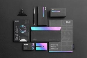 高端黑办公用品套装品牌VI设计效果图样机 Blck Branding Mockup Kit插图3
