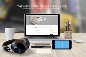 响应式网页设计预览样机套件 Responsive Mock-Up Web Display Kit插图1