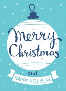圣诞节&新年庆祝主题简易矢量手绘图形素材 Collection of Christmas cards插图4