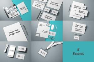 企业品牌VI设计办公文具样机模板v1 Branding / Identity Mock-up插图10