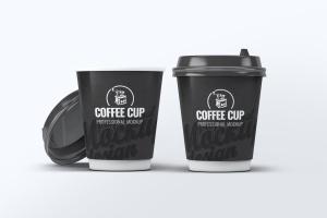 咖啡纸杯外观设计效果图样机模板 Coffee Cup Mock-Up V.2插图1