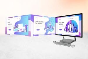 微软一体机电脑样机模板 Surface Studio Mockup V.2插图5
