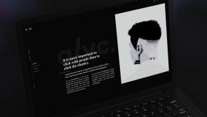 黑色超级笔记本屏幕预览样机模板 Black Laptop Mockup插图7
