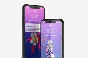 iPhone X智能手机APP设计图演示样机模板02 Free iPhone X Mockup 02插图1