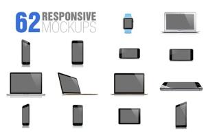 62款响应式网页设计预览样机套装 62 Responsive Mockups插图2