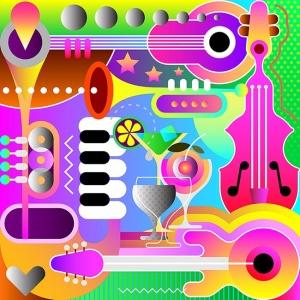 音乐主题抽象矢量艺术插画设计素材 Musical Background Design vector illustration插图2
