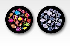 奇异鱼类矢量图形设计素材 Exotic Fish round shape vector designs插图2