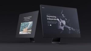 网站UI设计效果图预览黑色iMac电脑样机模板 Dark iMac Mockup插图13