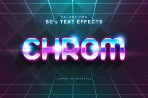 80年代文本图层样式 80s Text Effects插图2