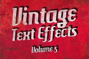 复古做旧风格文本图层样式v5 Vintage Text Effects Vol.5插图1
