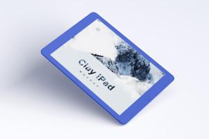 iPad平板电脑屏幕预览UI设计效果图样机01 Clay iPad 9.7 Mockup 01插图5