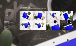 平板电脑/智能手机响应式页面设计效果图样机 Tablet Mock-Up插图2