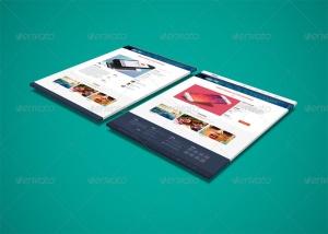 网站界面设计截图3D预览样机模板v3 3D Web Presentation Mockup (V3)插图6