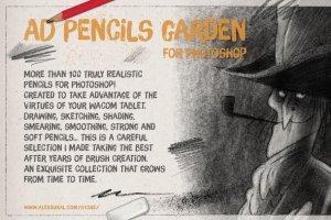 超级ps铅笔笔刷大合集 The Pencils Garden插图2
