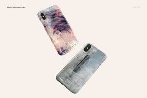 逼真的iPhone X塑料材质手机壳样机展示模型mockups插图7