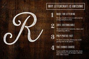 手工绘制效果图层样式合集 LetterCraft – Hand Lettering Kit插图2