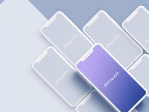 LS出品-超高品质 iPhone Xs/Xs Max 样机模板[PS & Sketch]插图2