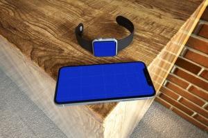 Apple智能手表&iPhone Xs手机样机模板 Apple Watch & iPhone XS插图11