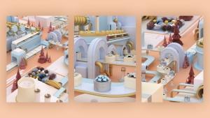 3D建模圣诞节主题概念工厂场景PNG素材 Christmas Factory插图16