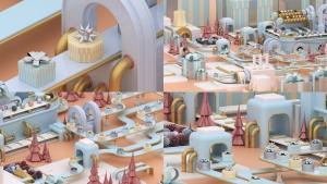 3D建模圣诞节主题概念工厂场景PNG素材 Christmas Factory插图6
