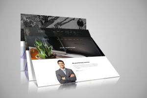 网站设计3D立体演示效果图样机模板 Web Themes Mock ups插图1