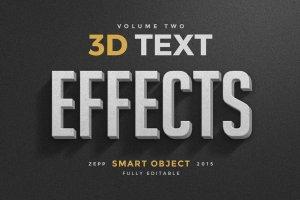 3D 文本图层样式合集 3D Text Effects Vol.2插图1