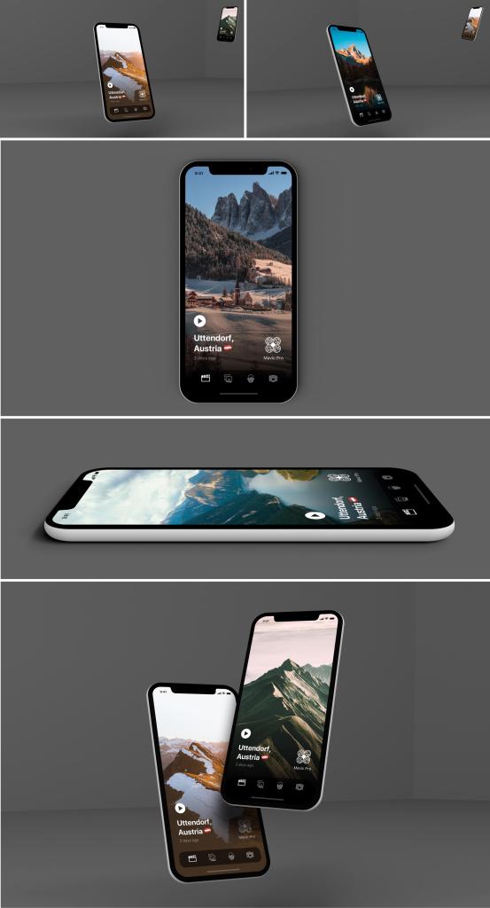 一流设计素材网下午茶:4K级的多角度iPhone X展示模型下载[PSD]插图