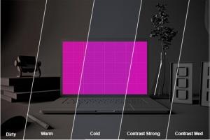 酷黑场景MacBook Pro电脑样机 Dark MacBook Pro插图7