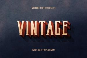 复刻电影加州梦风格文本图层样式 Retrica: Vintage Text Effects Pack插图2