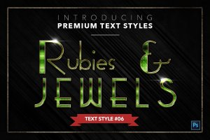 20款红宝石&珠宝文本风格的PS图层样式下载 20 RUBIES & JEWELS TEXT STYLES [psd,asl]插图7
