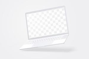 15寸MacBook Pro笔记本电脑屏幕演示样机模板 Clay MacBook Pro 15″ with Touch Bar Mockup插图1