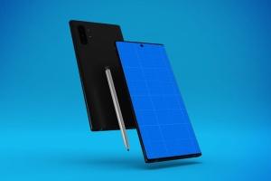 三星大屏手机Note 10屏幕预览样机模板 Note 10 Mockup插图10