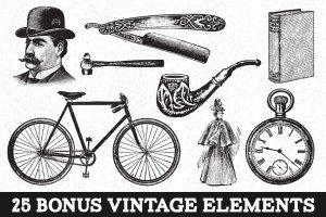 复古怀旧自动印刷效果图层样式 Vintage Auto-Press插图4