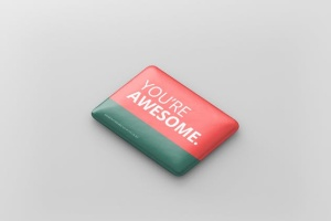 矩形徽章扣子样机模板 Rectangle Badge Button Mockup插图7