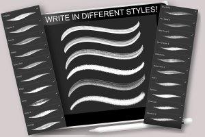 创意Procreate专用字体笔刷包下载插图(2)