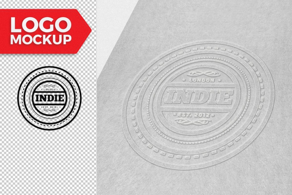 凸版印刷效果Logo设计展示样机 Logo Mock-Up插图