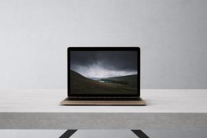 高品质的笔记本电脑设备展示样机 Laptop Mock-Up插图4