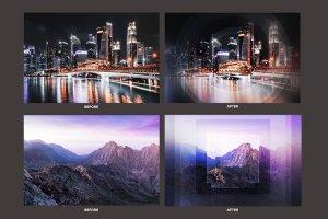 几何科幻照片效果处理PSD模板 Geometric Haze Photoshop Template插图4