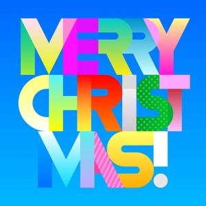 圣诞节主题装饰文字矢量图形素材 Merry Christmas decorative text (two options)插图(2)