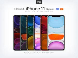 全新iPhone 11系列手机样机合集[AI&PSD格式]插图1