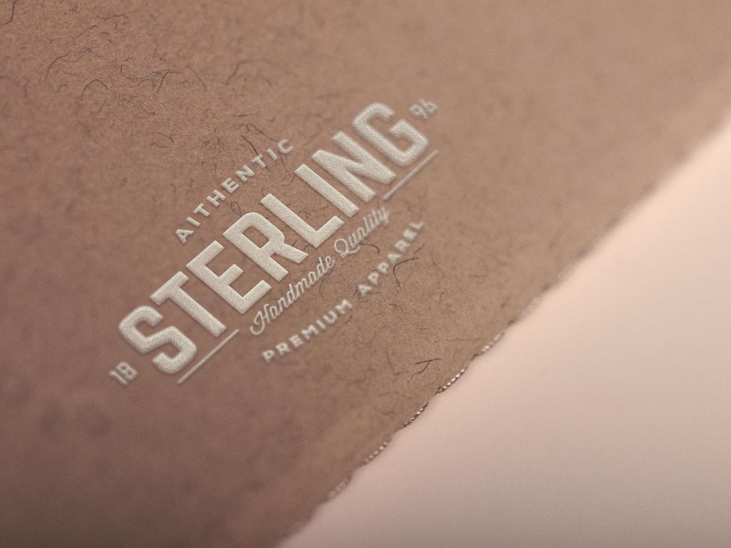 Logo&商标设计凹凸工艺印刷效果样机模板 White Logo Mockup插图