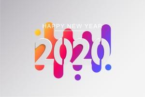 2020新年数字彩色矢量设计图形素材 2020 Happy New Year Greeting Card插图9