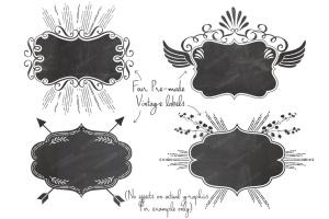 复古怪诞时尚设计矢量素材包 Vintage Eccentric Designers Toolkit插图8