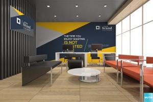 3D立体logo标志企业文化办公室设计VI样机展示模型mockups插图10