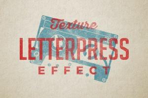 复古纸质凸版印刷纹理效果PSD分层模板 Vintage Letterpress Texture Effects插图1
