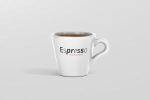 逼真咖啡杯马克杯样机模板 Espresso Cup Mockup – Cone Shape插图10